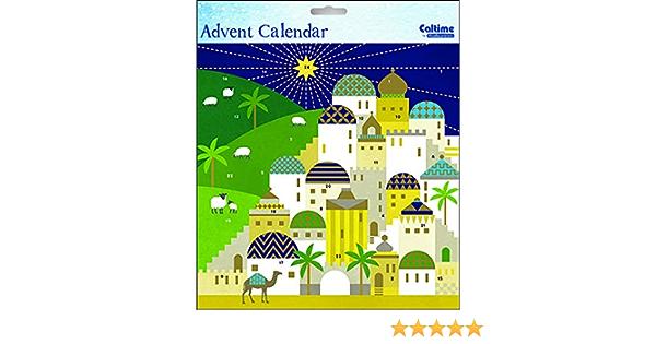 Bethl/éem Calendrier de lAvent Religieux 235 x 235 mm avec enveloppe
