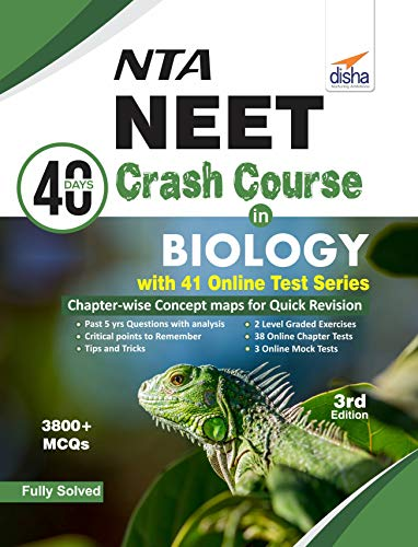 NTA NEET 40 Days Crash Course in  Biology with 41 Online Test Series