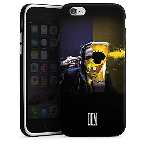 Apple iPhone 7 Tasche Hülle Flip Case Spongebozz Fanartikel Merchandise Sun Diego Silikon Case schwarz / weiß