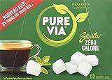 Pure Via Stevia Zéro Calorie - Boîte de 65 Morceaux 130 g - Lot de 2
