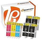 Bubprint 10 Druckerpatronen kompatibel für HP 920XL 920 XL für OfficeJet 6000 6500 6500A Plus 6500 Wireless 7000 7500A Schwarz Cyan Magenta Gelb