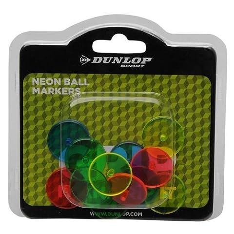 Dunlop Neon Marker Bright Reflektierende Farben 12Stück Great Golf Zubehör - Dunlop Golf Irons