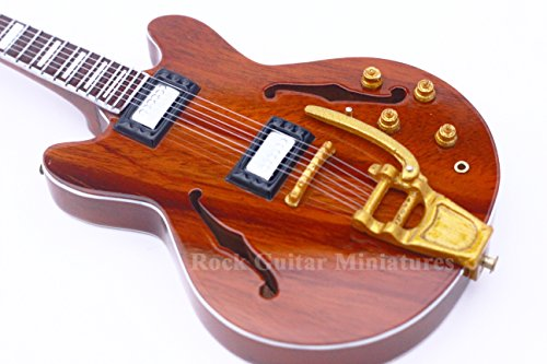 Unbekannt rgm82 Keith Richards Stones Miniatur Gitarre Mini Gitarren Rock Guitar Miniatures Mick Jagger Keith Richards Ronnie Wood Charlie Watt klebrigen Finger The Rolling Stones Brown Sugar - Watt Miniatur