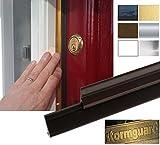 Gomma guarnizione esterna intorno porta guarnizione per porte fino a 210cm x 105cm (105cm x 5 pezzo), marrone