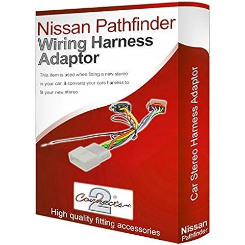 Nissan Pathfinder CD radio stereo Adattatore-convertitore cablaggio ISO loom - Nissan Radio Cablaggio