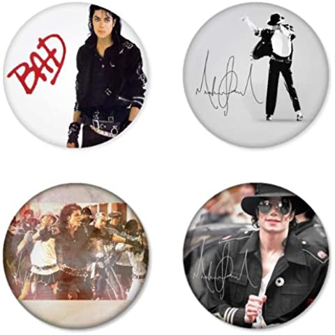 MICHAEL JACKSON Round Badges Button 1.75
