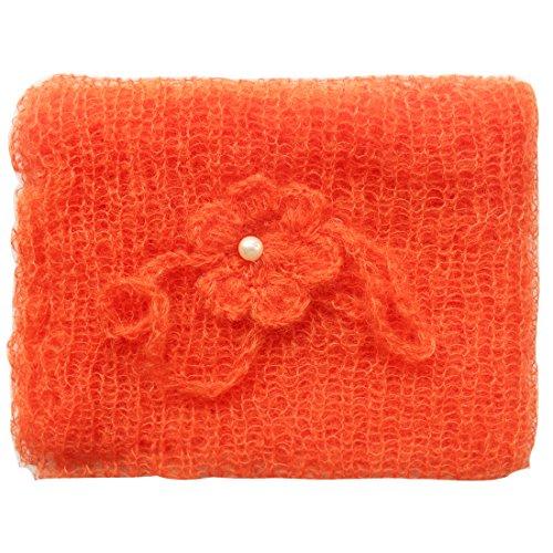 iEFiEL Nouveau-né bébé Unisex Accessoire tricoté Enveloppe + Bandeaux cheveux Photographie Props (8) Orange