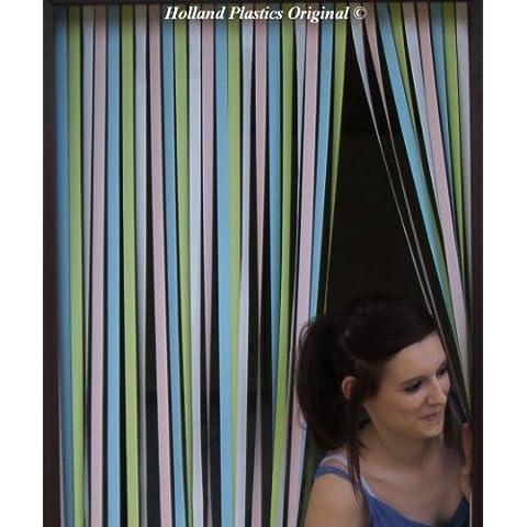 Deber pesada puerta de cortina Caravana - 62 cm de ancho. Perfecto para caravanas y casas móviles. 'pastel
