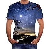 Bellelove 3D Druck Tshirt Herren 3D Print Oberteile Hemd Männer Lässige Kurzarm T-Shirts Round Hals Hemden Tops