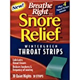 Breathe Right Snore Relief Throat Strips, Wintergreen 30 ea