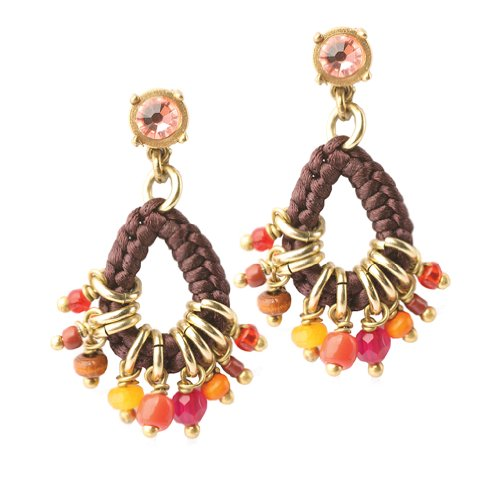 Exoal Ohrringe Charms Bunt/Gold