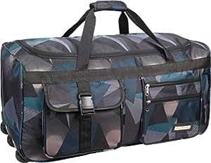 Leichte und Robuste Sport und Reisetasche mit tollem Design und Rollen Farbe Abstract