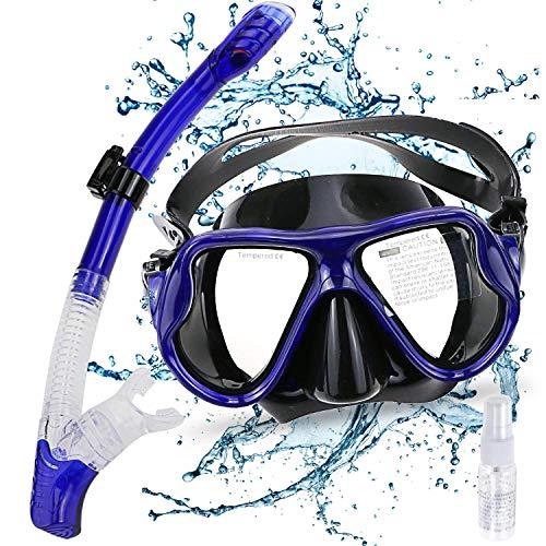 Gifort Masque de Plongée, Masque Snorkeling, Antibuée et Anti-Fuite sous-Marine Verre Trempé