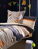 Catimini auf die Piste Bettbezug, blau, 160_x_220_cm