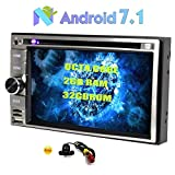 "Car Stereo 6.2"" Touch Screen Android 7.1 Octa-core 2 GB di RAM + 32GB Car ROM audio lettore DVD Doppio Din in precipitare GPS Bluetooth Car Navi Supporto Radio RDS / SWC / DAB + / OBD2 USB / SD / Phone Link / Cam-In + Free Rear macchina fotografica"