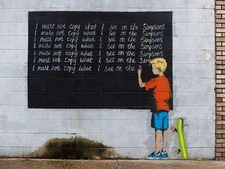 Feeling-at-home-Kunstdruck-New-Orleans-Graffiti-Banksy-zugeschrieben-cm92x122-Poster-fuer-Rahmen