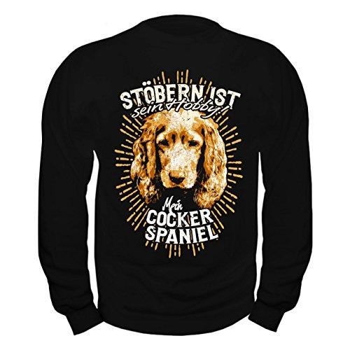 Männer und Herren Pullover Cocker Spaniel - Stöbern ist sein Hobby (Cocker Sweatshirt Spaniel Baumwolle)