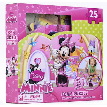 Sambro - Disney Minnie Mouse - 25 teiliges Schaumstoff Puzzle [UK Import]
