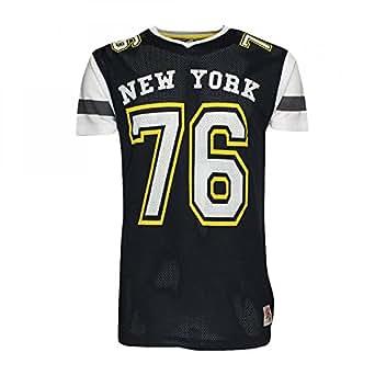 Men's Soul Star Mecca American Football Mesh T Shirt Varsity Baseball Jersey XX Large Navy