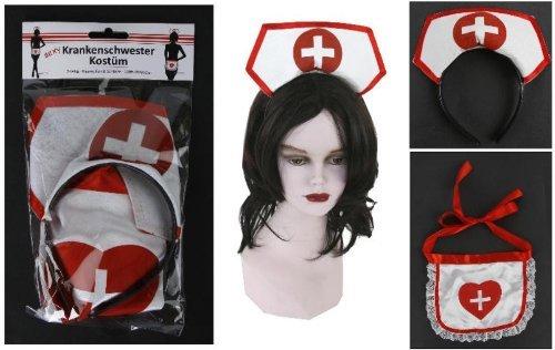 sexy Krankenschwestern-Outfit, 2-teiliges Ensemble fürs erotische (Krankenschwestern Sexy Outfit)