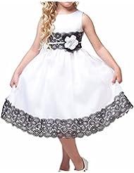 Vestidos de Princesa Fiesta Encaje Floreado para Niña Vestido de Gala