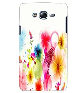 PrintDhaba Coloured Flower D-2190 Back Case Cover for SAMSUNG GALAXY ON 7 (Multi-Coloured)