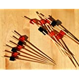 Gifts Of The Orient GOTO® - Brochetas De Madera Rojo & Negro Cubo Cocktail Sticks 9 Cm X 100