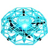 TL123 UFO Mini Drone Helicopter RC Quadcopter Sensing Lights Giocattolo da interno -Blu (C1)