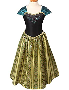 iiniim Niñas Vestido De Princesa Floral Niñas Cosplay Vestido De Fiesta De Boda Para Las Niñas 3-8 Años