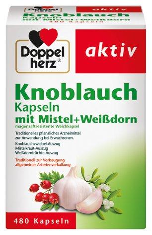 Doppelherz Knoblauch-Kapseln mit Mistel, und Weißdorn, 3er Pack (3 x 480 Kapseln)
