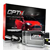 9005 , 5000K Bright White : OPT7 Blitz S2 9005 High Beam HID Kit - 3.5x Brighter - 4x Longer Life - All Colors and Sizes - Simple Install - 2 Yr Warranty [5000K Pure White Light]