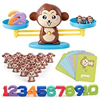 Monkey Number Balance Math Games Preschool Educational Toys Early Math Teaching Tool Counting Toy