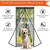 CosyVie - Cortina mosquitera para puerta de 90x 210cm - Práctica mosquitera magnética para puerta anti moscas/insectos/mosquitos