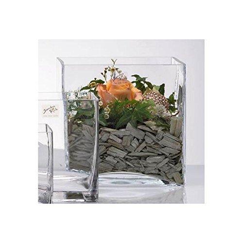 Sandra Rich Glasvase Glaswürfel Dekoglas Cube 20x20cm H. 20cm Quadratisch Eckig