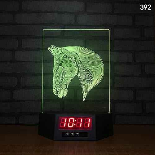 3D Illusion Lampe Nachtlicht optische Lampe Schreibtischlampe Kreative Smart-Home-Touch-Sensor-Nachtlicht-USB-Tischlampe der Induktion 3D, 392, bunt, Fernbedienung, Note - Basketball Smart Sensor Der