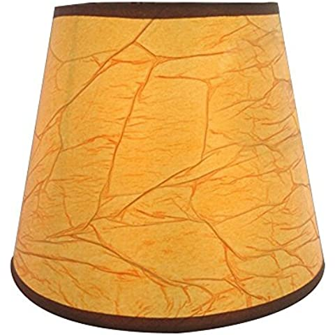 EFFORTINC Pantalla de lámpara de pergamino (juego de 6)