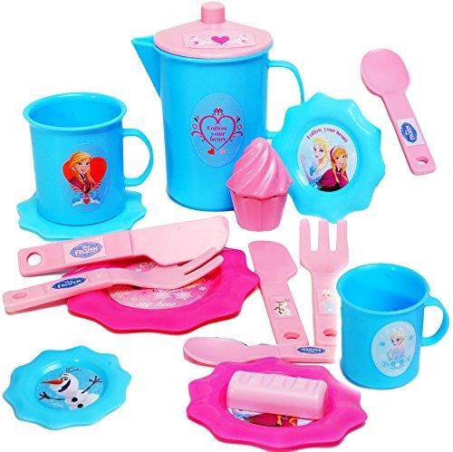 alles-meine.de GmbH 17 tlg. Set - Puppengeschirr / Teeservice -  Disney die Eiskönigin - Frozen ..