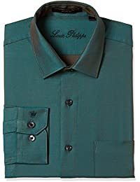Louis Philippe Men's Geometric Print Slim Fit Formal Shirt
