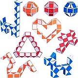 9 Pezzi 24 Blocchi Mini Cubo di Serpente, Cubi Velocità Magici, Mini Giocattolo Puzzle Cubo di Plastica per Bambini Festa Sacchetto di Riempimento, Bomboniere per Feste, Colore Casuale