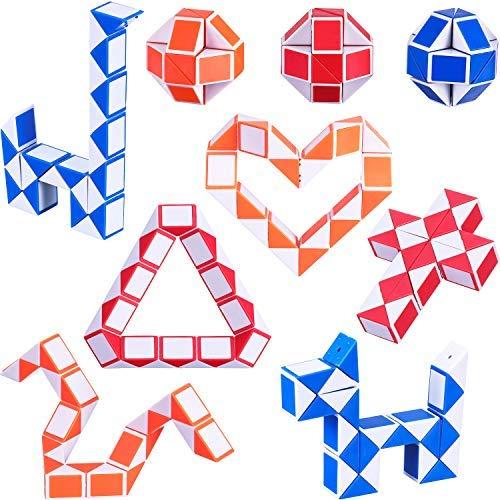 Mini Schlangen Würfel, Magische Geschwindigkeit Würfel, Mini Kunststoff Puzzle Würfel Spielzeug für Kinder Party Tasche Füllstoff, Party Favors Party Supplies (Zufällige Farbe A) ()
