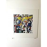 dipinto a mano quadro moderno su tela, 20x20 cm con retouche in acrilico e certificazione alessandro siviglia