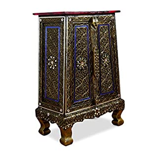 livasia Mosaic double door cabinet, handmade in Thailand from glas mosaic and wood, small cupboard, beautiful asian furniture