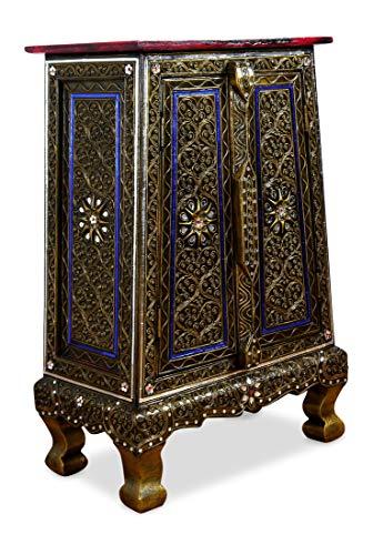 livasia Asiatischer Schrank | Glasmosaik-Look | Massivholz Kommode | Asiatische Kommode der Marke Asia Wohnstudio | China,Thai,Bali,Nr.30