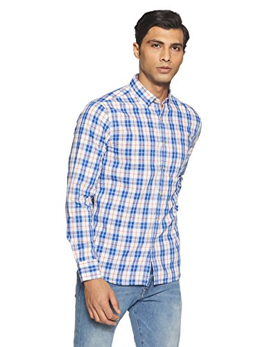Symbol Amazon Brand Men's Checkered Regular Fit Casual Shirt (SS18-SMCS-112_Multi Color_X-Large)