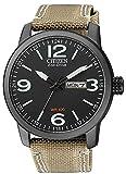 Solar orologio da uomo nero con cinturino in tessuto Orologio da polso Citizen Eco Drive BM8476–23E