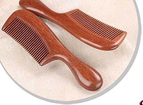 Handgefertigter Haarkamm aus rotem Sandelholz, hohe Qualität, mit Griff, antistatisch, entwirrend, mit natürlichem Aroma für die ()