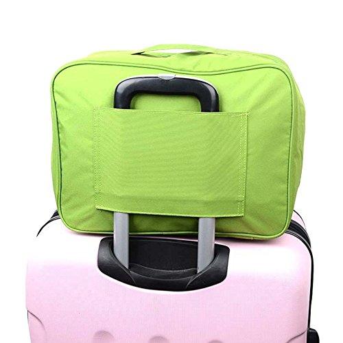 Wasserdichte Tragbare Aufbewahrungstasche Multi - Fach Kleidung Aufbewahrungstasche Reisen Finishing Gepäck Trolley Taschen, 1PC Grün