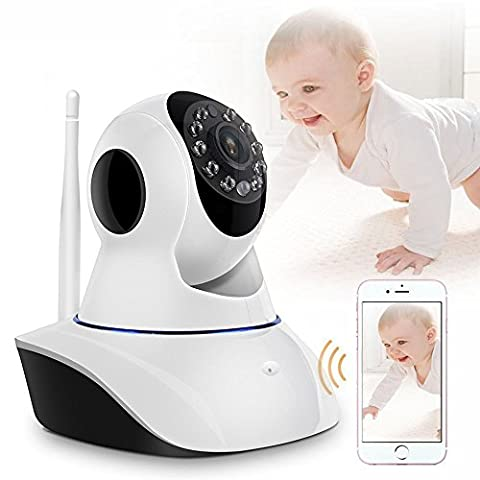 iShope IP Camera, Security Camera, Baby Monitor Wireless Camera Video Monitor 2 Way Audio P2P Pan & Tilt Remote Motion Detect Alert with Multi stream View and Night Vision