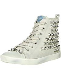 BULLBOXER Damen Mid-Cut Sneaker weiß