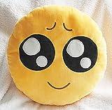 Nettes weiches Plüsch-Emoji Gelb Emoticon Smiley Runde Kissen Spielzeug-Puppe-Kissen - Pitiful